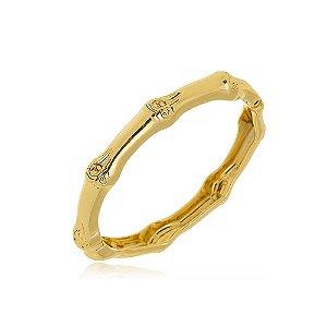 Pulseira Bracelete Rústico Di Capri Semi Jóias X Ouro