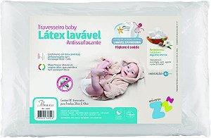 Travesseiro Látex Sintético Lavável Baby- Fibrasca