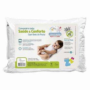 Travesseiro Baby Saúde e Conforto Íons de Prata - Fibrasca