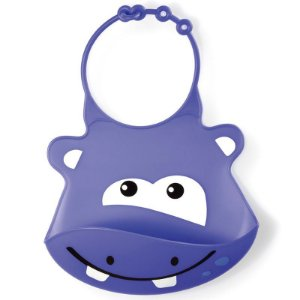 Babador Silicone Hipopótamo