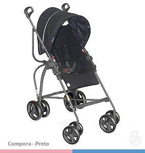 Carrinho de Bebê Campora Preto - Galzerano