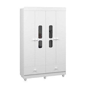 Guarda-Roupas Katatau Branco 4 Portas