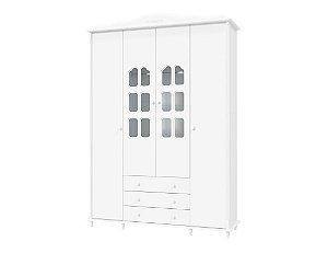 Guarda-Roupas Provence Branco 4 Portas - Matic Móveis