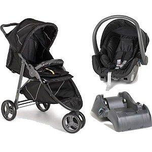 Conjunto de Carrinho de Bebê Cross e Bebê Conforto + base