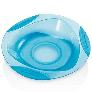 Prato raso com ventosa azul - Multikids