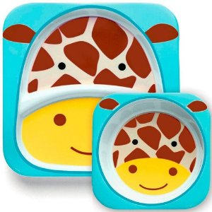 Conjunto de Prato e Tigela Zoo Girafa - Skip Hop
