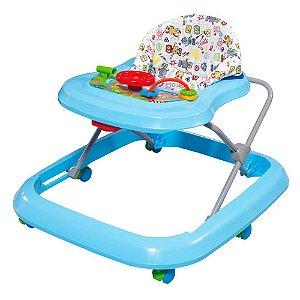 Andador Azul com bandeja de atividades - Tutti Baby