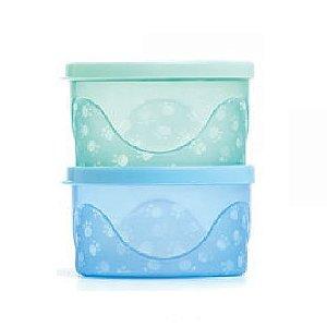 Kit de Potes Infantis 300 ml azul e verde - Cajovil