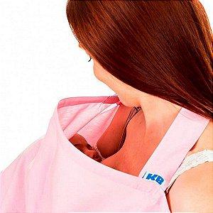 Capa de amamentação rosa - Kababy