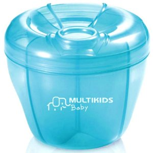 Porta Leite em Pó Azul - Multikids