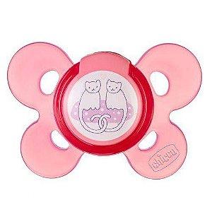Chupeta Comfort Rosa Silicone Chicco Tamanho 2 (6-12M)