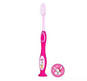 Escova De Dentes Chicco Rosa (3-6 Anos)