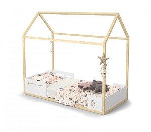 Cama Liv Branco Soft Natural - Matic Móveis