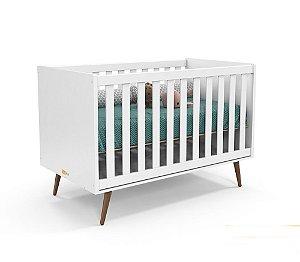 Berço Retrô Branco Soft Eco Wood Matic - Matic Móveis