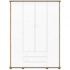 Roupeiro Fratelli 4 Portas Branco Soft  com Teka - Matic Móveis