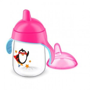 Copo pinguim 18+ rosa 340 ml - Avent