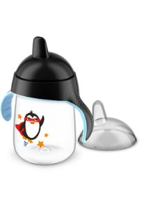 Copo pinguim 18+ preto 340 ml - Avent