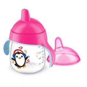 Copo pinguim 12+ rosa 260ml - Avent
