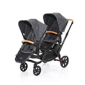 Carrinho De Bebê Para Gêmeos Zoom Wood - ABC Desing