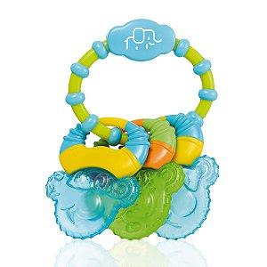 Mordedor Resfriável Com Água Cool Rings Azul - Multikids