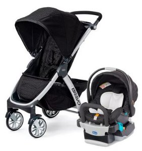 Carrinho Bravo Ombra com Bebê Conforto Auto KeyFit - Chicco