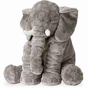 Almofada de Pelúcia Elefante Cinza - Sathler Baby