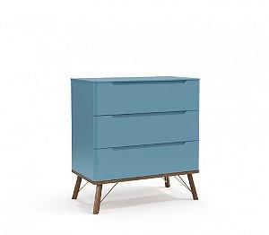 Gaveteiro 3 gavetas Albi Azul Royal - Matic Móveis