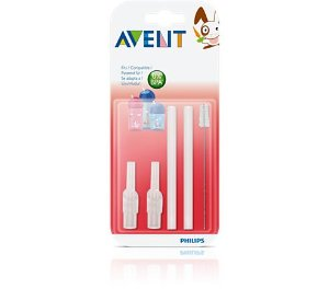 Refil para canudo e escova de limpeza - Avent