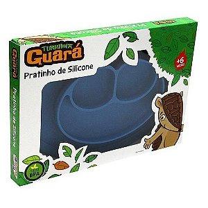 Pratos de silicone azul - Turminha Guará