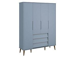 Roupeiro 4 portas Azul Noah - Reller