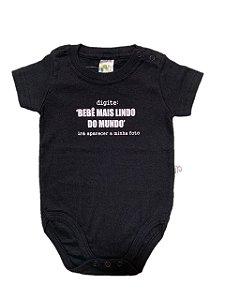 Body Bebê Mais Lindo do Mundo Manga Curta