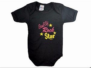 BODY BABY ROCK MANGA CURTA - GENTE MIÚDA