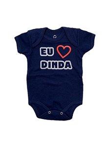 BODY EU AMO DINDA MANGA CURTA - BABY HOOD