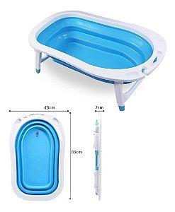 Banheira Dobrável Flexi Bath Azul Multikids Baby