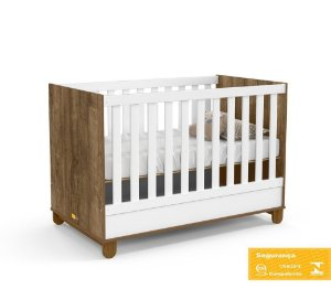 Berço Mini Cama Zupy Branco Soft/ Teka/ Eco Wood Matic Móveis