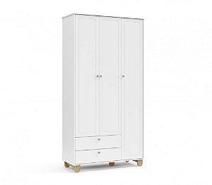 Roupeiro Zupy 3 portas Branco Soft/Natural Matic Móveis