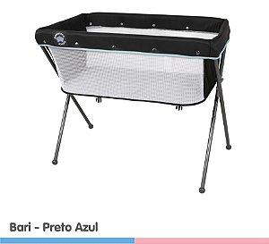 Berço Co-Leito Bari Preto Azul-Galzerano