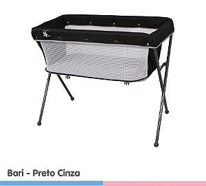 Berço Co-Leito Bari Preto Cinza - Galzerano