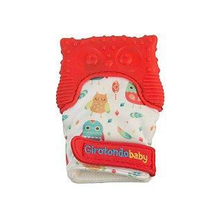 Luva Mordedor Coruja Vermelho - Girotondo Baby