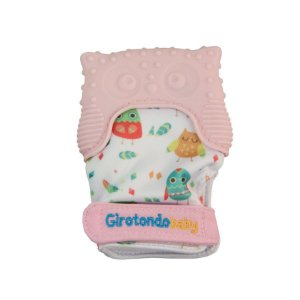 Luva Mordedor Coruja Rosa - Girotondo Baby