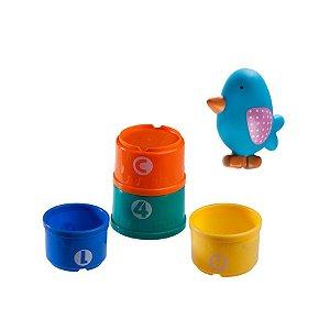 Brinquedos do Jardim e 4 Potes Coloridos no Pássaro - Girotondo Baby