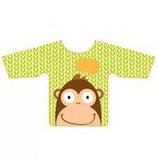 Babador com manga Macaco - Multikids baby