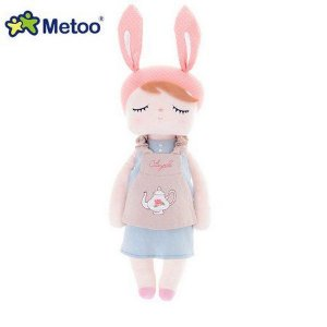 Boneca Metoo Angela Bunny Rosa 46cm