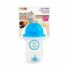 Copo Grande Com Canudo Click Azul 296 Ml - Munchkin