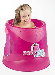 Ofurô 1 a 6 anos Flúor Pink - Babytub