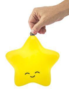 Cofre Estrela amarelo - Decorfun