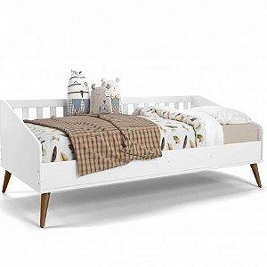 Cama Babá Retrô Branco Soft com Eco Wood - Matic Móveis