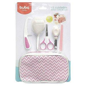 Kit Cuidados Baby com Estojo Rosa - Buba