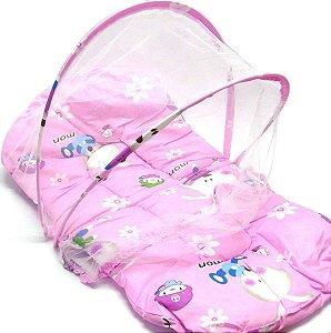 Mosquiteiro Conforto Rosa - Pais e filhos