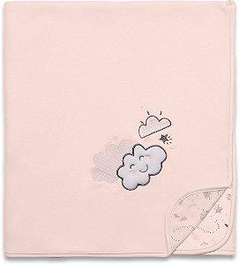 Manta Soft Nevoa Rosa - Hug